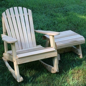 Adirondack Rocker and Side Table Set - Cedar American Forest