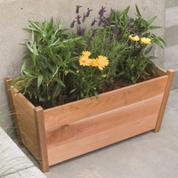 Alta Rectangular Cedar Planter