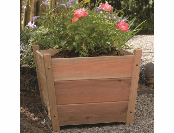 Alta Square Cedar Planter - Available to ship Jan 2020