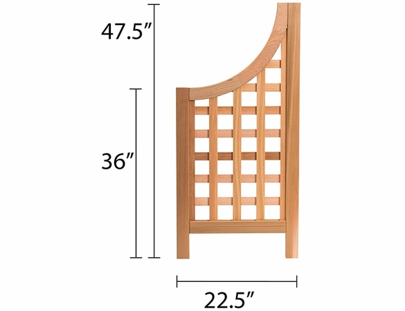 Andover Cedar Trellis Wings Set of 2