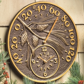 Pinecone Thermometer Clock
