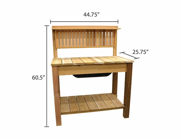 Arboria Modern Cedar Potting Bench & Shelf - Not Available after 12/31
