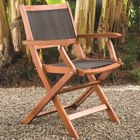 Arboria Sea Breeze Folding Sling Arm Chair - Set of 2
