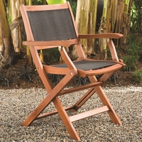 Arboria Sea Breeze Folding Sling Arm Chair - Set of 2 - Soon to be Discontinued