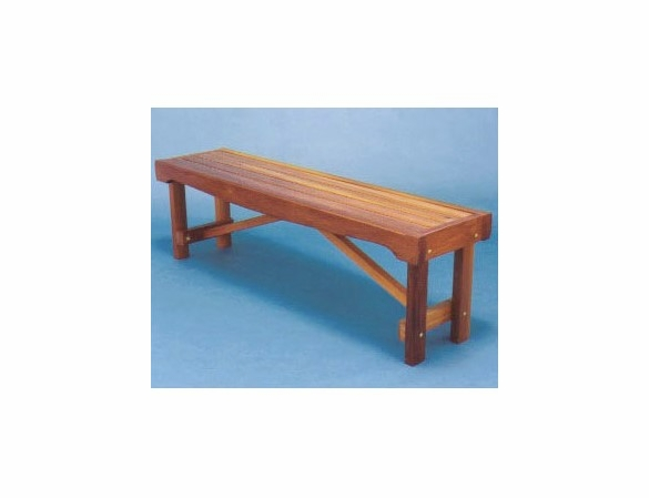 Backless Garden Bench Seat: 5 Foot