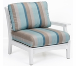 Berlin Gardens Classic Terrace Left Arm Sectional Club Chair