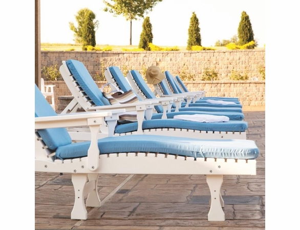Berlin Gardens Resin Casual Back Chaise Lounge Chair