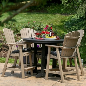 Berlin Gardens Resin Comfo Back Four Seat Dining Set