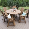 Berlin Gardens Resin Comfo-Back 6 Seat Round Counter Height Dining Set