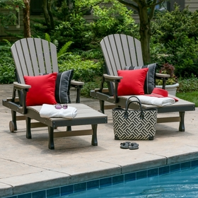 Berlin Gardens Resin Comfo Back Chaise Lounge Patio Set
