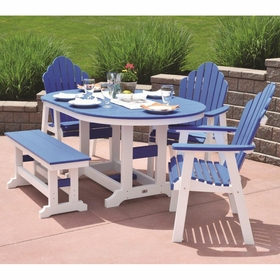Berlin Gardens Resin Cozi-Back 4 Seat Dining Set with Bench