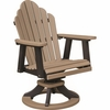 Berlin Gardens Resin Cozi-Back Dining Height Swivel Rocker