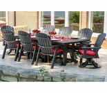 Berlin Gardens Resin Garden Classic Large 8 Seat Rectangular Dining Set