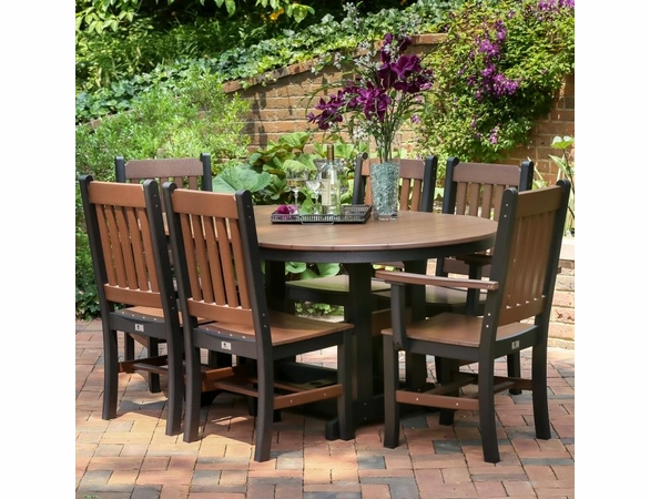 Berlin Gardens Resin Garden Mission 6 Seat Oblong Dining Set