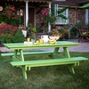Berlin Gardens Resin Rectangular 6' Picnic Table