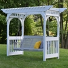 Berlin Gardens Vinyl Swing Arbor Only