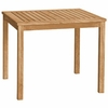 "Three Birds Brunswick Teak 36"" Square Dining Table"