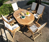 Three Birds Camden Riviera Teak Dining Set