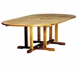 "Three Birds Camden Teak 72"" - 96"" Oval Extension Table"