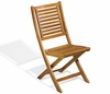 Oxford Garden Capri Acacia Folding Chair (Pair) - Reduced Closeout Pricing