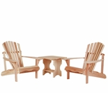 Cedar Athena Adirondack Chair Set Kit