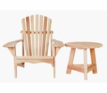 Cedar Athena Adirondack Chair & Side Table Kit