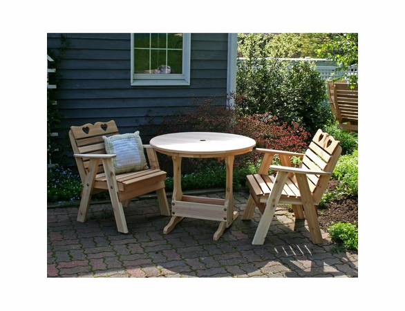 Cedar Country Hearts Bistro Set - Spring Kickoff Sale - May Only