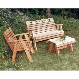Cedar Country Hearts Furniture Collection