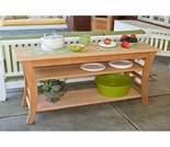 Cedar Entertaining Buffet Table