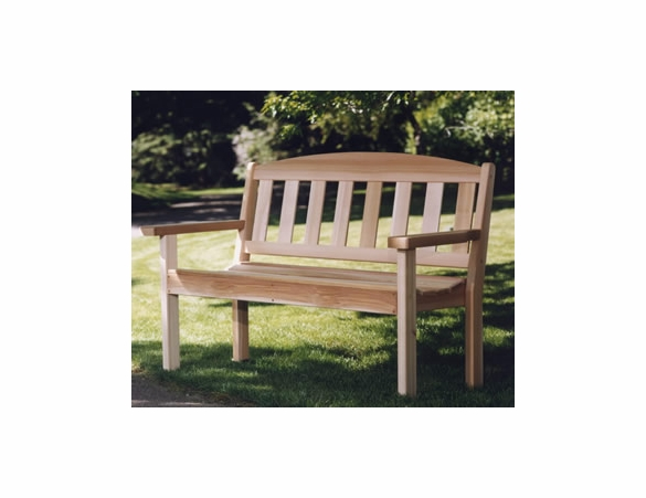 Enjoyable Cedar Garden Bench Kit Bralicious Painted Fabric Chair Ideas Braliciousco