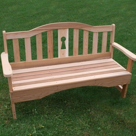 Cedar Keyway Garden Bench