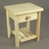 Cedar Night Table w/ Drawer - Not Currently Available