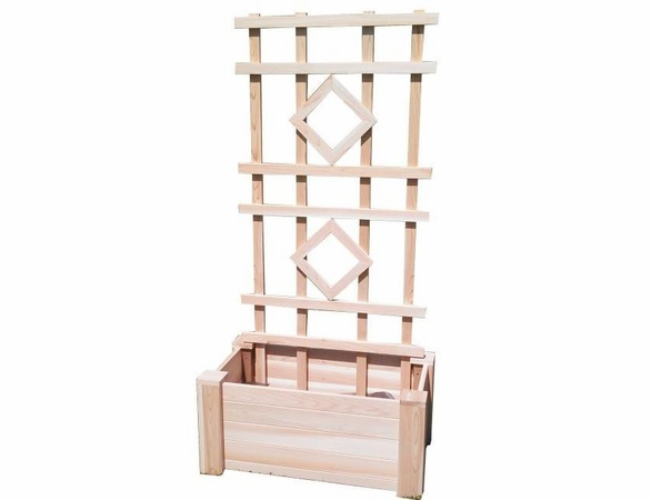 Cedar Planter Trellis - Exclusive Item - Not Currently Available