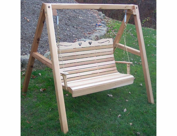 Cedar Royal Country Hearts Porch Swing (with Stand)