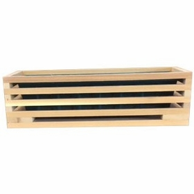 cedar slatted deck rail planter box not currently available