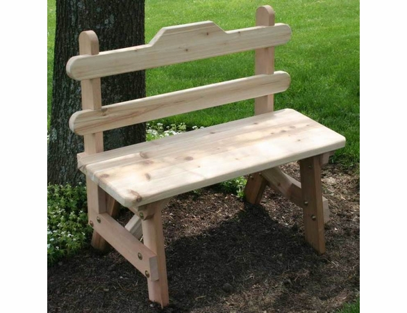 Cedar Tab Back Bench