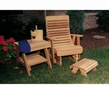 Cedar Twin Ponds Rocking Glider Chair Set
