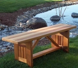 Cedar Villa Garden Bench - 4' or 5' Length