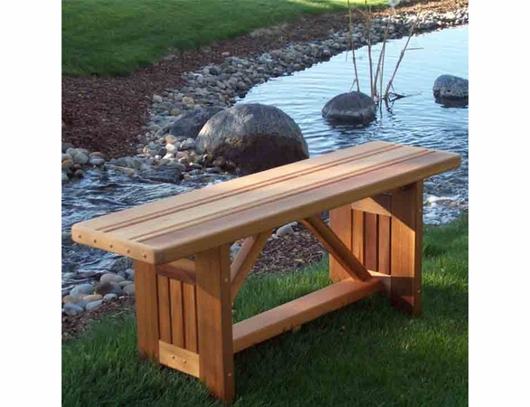 Cedar Villa Garden Bench 4 Or 5 Long