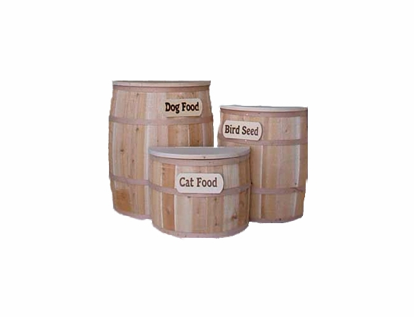 Cedar Wood Storage Barrel in 3 Sizes