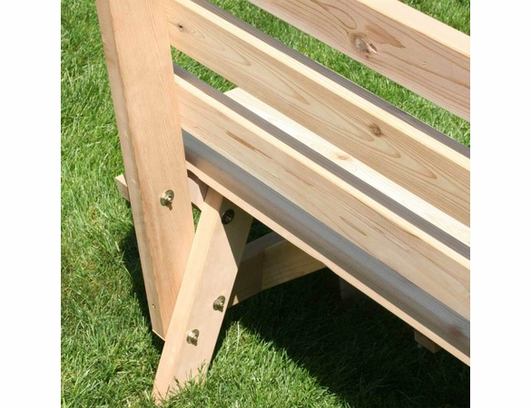 Cedar Cross Legged Picnic Table with Two Backed Benches