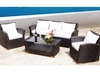 Charleston Wicker Sofa Group - 4 Piece Set - Color Options - Special Closeout Pricing