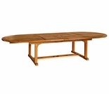 "Three Birds Chelsea Teak 80"" - 115"" Oval Extension Table"