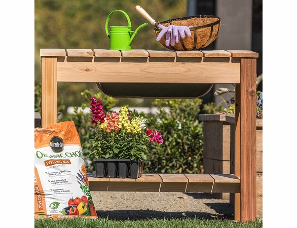 Classic Cedar Potting Table - Not Currently Available
