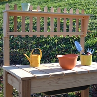 Cottage Cedar Potting Bench - Not Available after 12/31