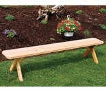 Cross Leg Cedar Backless Bench- 2', 3', 4', 5' 6' & 8'