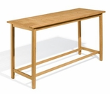 "Oxford Garden Dartmoor 78.75"" Long Shorea Bar Table - Additional Spring Discounts"