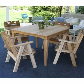 Dining Set - Cedar Country Hearts