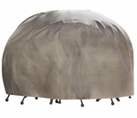 "Duck Covers Elite 76"" Dia Round Patio Table and Chairs Cover with Inflatable Airbag"
