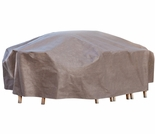 "Duck Covers Elite 96"" L Rectangle Patio Table and Chairs Cover including Inflatable Airbag"